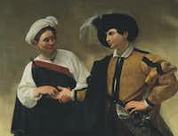 """Caravaggio's """"The Gypsy Fortune Teller.""""Pinacoteca Capitolina, Musei Capitolini"""