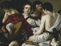 """Caravaggio's """"The Musicians.""""Metropolitan Museum of Art"""