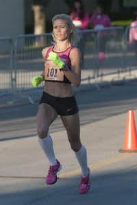 Dawn Grunnagle finished second in the women's race.