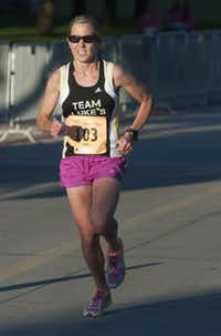 Melissa Cook was the first woman to finish the Komen Dallas Race for the Cure.