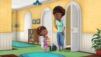 """""""Doc McStuffins"""" is a new animated series about Doc, an imaginative six-year-old girl who communicates with and heals stuffed animals and toys out of her backyard clinic. The series will premiere with the launch of the new 24-hour Disney Junior channel in 2012."""