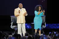 Bishop T.D. Jakes and Oprah Winfrey teamed up at American Airlines Center on Thursday to tape an Oprah's Lifeclass session.