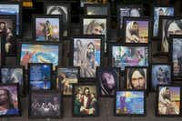 Images of Jesus are displayed for sale in the main plaza in Xochimilco.Rebecca Blackwell  -  AP