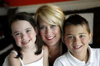 Cassie Freeman with Sloan, 5, and Jackson, 10.