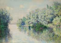 Claude Monet, The Seine Near Giverny, 1885. Oil on canvas; 25-3/4 x 36-1/4 in. Lent by Frederic C. Hamilton.