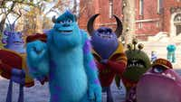 """Nathan Fillion is the voice of the purple-hued Johnny in the new movie """"Monsters University."""""""