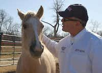 Mustang Mentors for Veterans program came to the Las Colinas Equestrian Center.Photo submitted by MAURA GAST