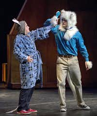 Randall Scott Carpenter (left) and Justin Duncan perform Stuart Little at Dallas Children's Theater Friday, June 13, 2014 in Dallas. The play, which is based on the popular children's book, runs at the theater through July 13.G.J. McCarthy - Staff Photographer