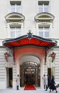The Avenue Hoche entrance to Le Royal Monceau Raffels