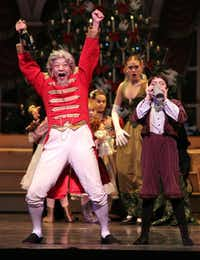 Grandfather, played by Li Anlin, gets happy in Texas Ballet Theater's The Nutcracker.
