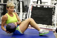 Working out with a medicine ball is a form of resistance training.