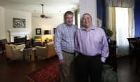 Michael Melvin and David Smith are shown here just outside their living room of their Plano, Texas home on Friday, August 3, 2012.