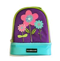 A daisy-adorned lunch box's extra lining keeps food fresh and crush-free. An extra storage compartment holds a coordinating water bottle. Lunch box $17.95, water bottle $10.95 at Texas Discovery Gardens, Dallas.Scott Owen  -  Texas Discovery Gardens