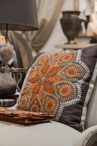 Accessory pillows, such as an offering from Neal Stewart Designs, continue to be a key element called upon to instill originality and personality into a space.