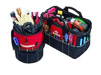 Constructed of heavy-duty, water-resistant material, the Husky 15-inch tool bag and utility sack help Dad organize and carry his tools. Set $14.88 at Home Depot stores and homedepot.com