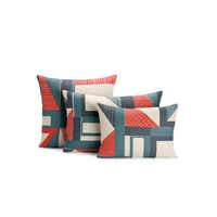 Lean back: The Abstract Pillow suite takes a modern spin on red, white and blue. $175 to $225 at Design Within Reach, Dallas.Courtesy Design Within Reach -  Design Within Reach