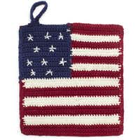 Get a grip: Some like it hot so they can pull out their patriotic crocheted potholders. $10 at Sur La Table, Dallas and Plano.JohnsonRauhoff -  Sur La Table