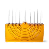The Bel Air menorah in blue or orange Lucite is $198 at Jonathan Adler, 4525 McKinney Ave., Dallas, and jonathanadler.com.