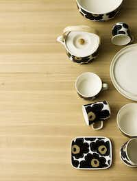 Tableware in Marimekko's 50th-anniversary Unikko collection features a more understated palette that still catches the eye. Starting at $20 per piece at marimekko.com.Juliana Harkki/ - Marimekko
