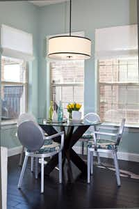Eat-in kitchen space in the Lewisville home of Farhan and Farah Mohammad.