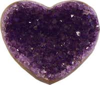 Amethyst heart-shaped geodes, one of a collection ranging from $350-$800, Forty Five TenCourtesy Forty Five Ten - Forty Five Ten