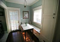 The breakfast nook of Jackie and Doug Sweat's home on Junius Street in Munger Place  on Tuesday, August 27, 2013.