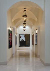 Escape by Christian Vincent  is one of the works displayed at Anne Stodghill's home in Preston Hollow.