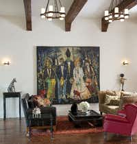 """""""That Special Moment"""" by John Alexander is on display at Anne Stodghill's home."""