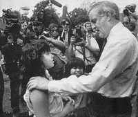 Pancho Medrano's granddaughter Sylvia Medrano, now under indictment on charges of illegal voting, met  Democratic presidential candidate Walter Mondale when she was a girl.