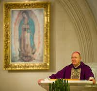 """Today in a Mass in Rome, he said very clearly that he chose the name of Francis because San Francisco de Asís was the person in the church who cared about the poor, those most in need,"" Dallas Bishop Kevin Farrell told the people who filled the pews and back aisles Sunday at the Cathedral Santuario de Guadalupe."