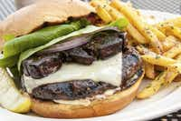 Truffle Pig burger with foie gras and truffle fries is served at Truffle Pig Restaurant in Steamboat Springs.