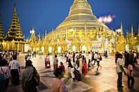 Sunset gathering at the ancient Shwedagon Pagoda, which have been a key meeting place in Yangon (and Burma!) for thousands of year.