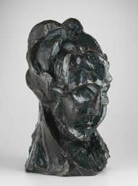 Head of a Woman (1909) shows a Cubist sculpture of Fernande, Picasso's Cubism muse.