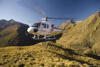 Queenstown-based Glacier Southern Lakes Helicopters can give you a birds-eye view of Middle-earth.