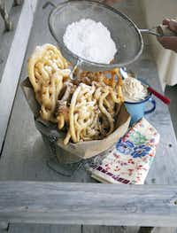 """Featured in the """"Sweet on Texas"""" cookbook is the recipe for Jon Bonnell's Homemade Funnel Cakes (he's the chef-owner of Bonnell's Fine Texas Cuisine in Fort Worth)."""
