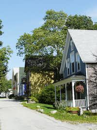Charlotte Lane, an important commercial street in early Shelburne, still looks much as it did in the 19th century.