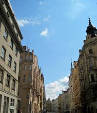 An Old Town streetscape reflects Prague's mix of architecture, making it a draw for filmmakers including Milos Forman's Amadeus (and Philip Kaufman's The Unbearable Lightness of Being.