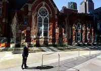 The old sanctuary behind Pastor Robert Jeffress will be used for weddings,  funerals and contemporary Sunday services.