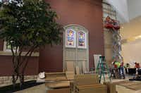 Workers tried to blend the old with the new for the $130 million restoration of First Baptist Church of Dallas.