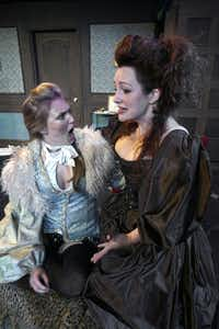 """Morgan Lauré Garrett, left, and Jessica Cavanagh in a scene from """"Or"""" at the Echo Theatre in Dallas, Thursday, Sept. 6, 2012."""