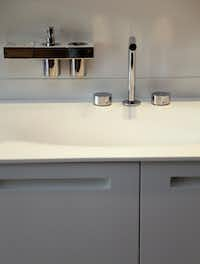 A sink and cabinet from the Betula bathroom collection at Ornare
