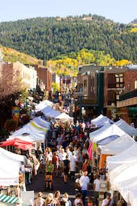 Historic Main Street in Park City, Utah, serves as the scenic backdrop to Park Silly Sunday Market.