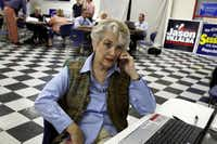 """Delys Jarvis phoned Ohio voters on behalf of Republican presidential nominee Mitt Romney last week. Leaving a phone message for a family named Bush, she said, """"I hope you're related to George. We've got him down here, and we love him."""""""