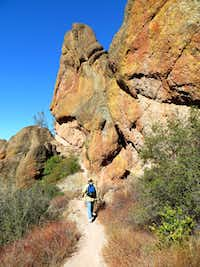 A variety of hiking trails, ranging from easy to strenuous, meander around and between the West and East sides of Pinnacles National Park in California.