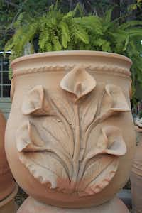 Some of the Oaxacan pots have lavish, hand-applied flowers.
