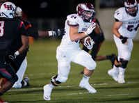 Rowlett running back Anthony Wagner runs up the field in a game against Lake Highlands. Rowlett went on to a 30-22 victory.