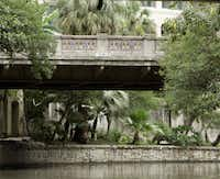 The Richmond Street bridge along the north end of the River Walk