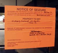 """Kaufman County officials posted """"Notice of seizure"""" signs at Renaissance Hospital after the owner failed to pay back taxes."""