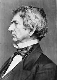 """Caption info from """"Seward,"""" by Walter Stahr, says: """"William Henry Seward, by Mathew Brady, circa 1863."""""""