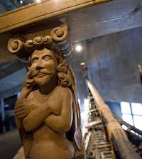 A sculpture from the Vasa is displayed on the ship at the Vasa Museum in Stockholm. Sweden's 17th century royal warship Vasa, which sank in 1628 and was brought to the surface three centuries later.